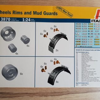 Italeri 3870 Wheels Rims and Mud Guards