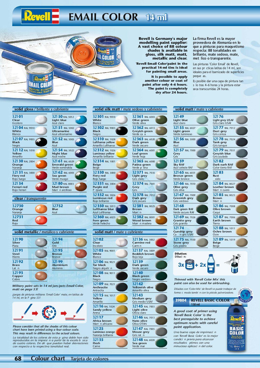 Revell 730 oranje clear modelbouwverf en hobbyverf Revell Color enamel verf 14 ml 32730